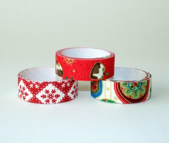 Christmas Fabric Washi Tape- Adhesive, Masking Tape
