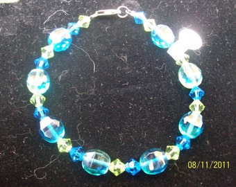 ocean waves crystal bracelet
