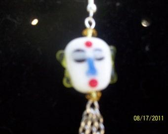 lampwork geisha earrings