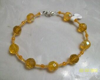 citrus orange fire polished anklet