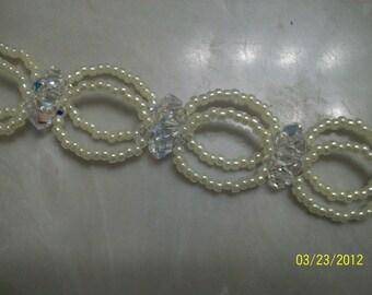 swarovski crystal victorian style  bridal choker 3 pc set - custom order