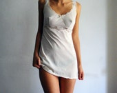 SALE until October27 // White vintage camisole slip dress size S
