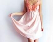 15% OFF - HALF price - Peach babydoll camisole dress size XS - ooak