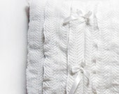 Set of Two Decorative Pillows  - Dreamy Lace Pillow cover with satin ribbons - for the Romantic, Shabby chic home decor
