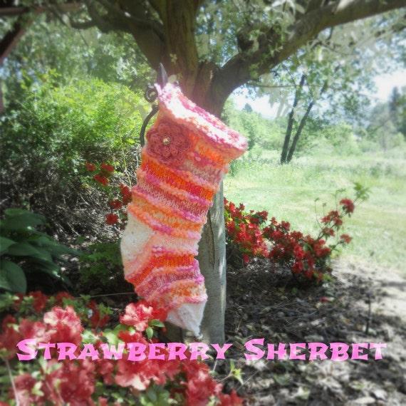 Christmas Stocking Strawberry Sherbet