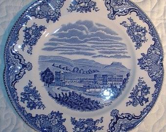 OLD BRITAIN CASTLES - Dessert / Side Plate - Indigo Blue - Transferware Toile - Johnson Bros. - Staffordshire, England