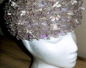 sale 20% off all vintage hats ... LILAC RUFFLED Floral Pill BOX lovely Vintage ...