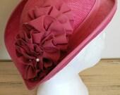 sale 20% off all vintage hats ... SHOCKING PINK Shumi label Vintage HAT Charm ...
