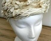 Sale 20% off all vintage hats ... MSIEU LEON Antique Creamy Vintage HAT Charm ...