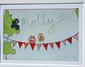 Girls Personalised Children's Picture.