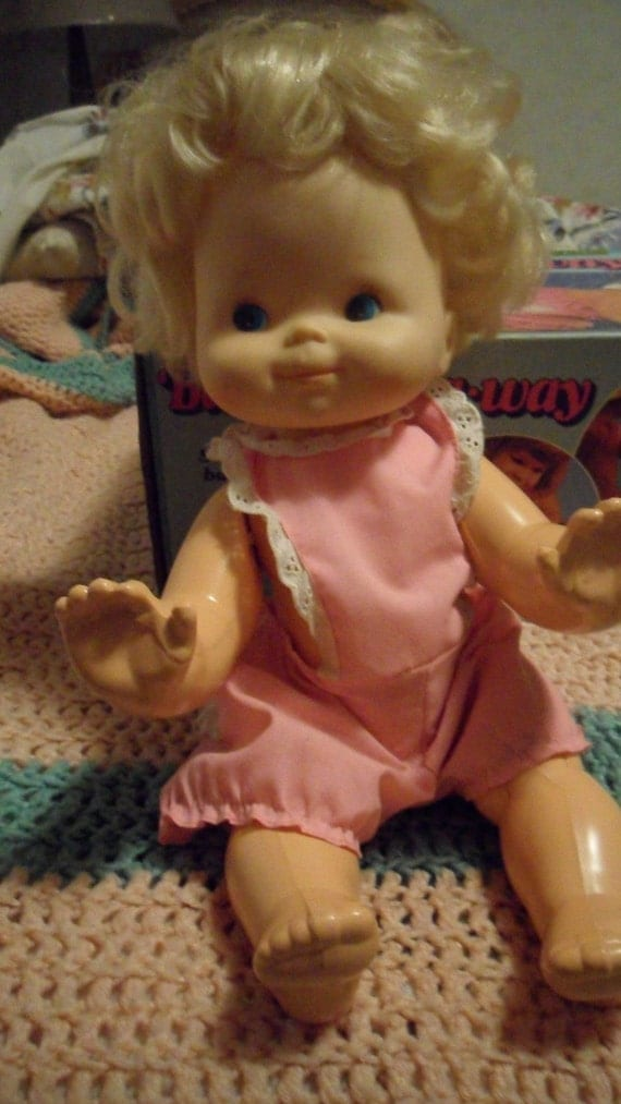 Vintage Doll Baby That A Way 1970s Works Original Box