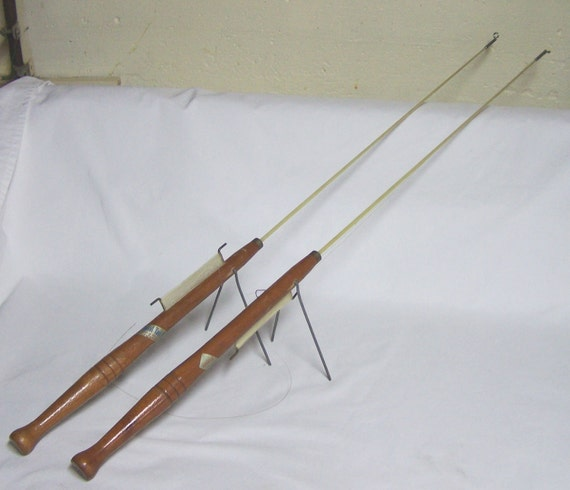2 vintage royal rod company ice fishing jigging poles for Vintage fishing poles
