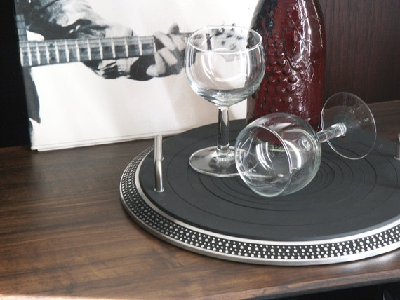 Vintage Turntable Ottoman Tray II - from The Audio Buffet Line