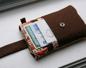 iPhone wallet / iPhone Sleeve / iPhone Case / iPhone 5 - Orange Blossom