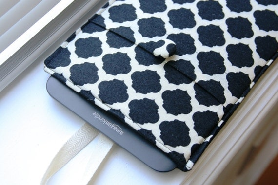 Kindle Sleeve / Kindle Case / Kindle Cover / Kindle Fire HD / Kindle Touch / Kindle Paperwhite- Black and White Geo