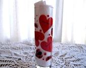 Valentine Love Bug Cylinder Rose Bud Vase by Indiana Glass