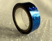 Hoop Tape - Shiny BLUE roll, Prism Holographic Film