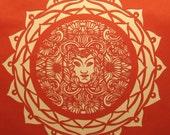 Face Mandala - Paper Cut - 8x8 PRINT