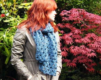 Long Teal Scarf, Last One Sale