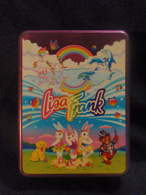Vintage 80's or 90's Lisa Frank Collectible Tin