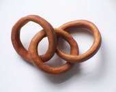 Hand Carved Wooden Rings Baby Toy -Treasury Featured