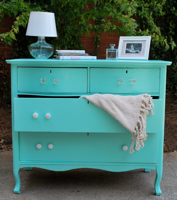 Tiffany Blue Antique Dresser