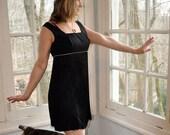 Flapper Party Dress. Vintage 1960s Does 1920s. Body Length Black Fringe. Rhinestones. Shake and Shimmy. Size Medium
