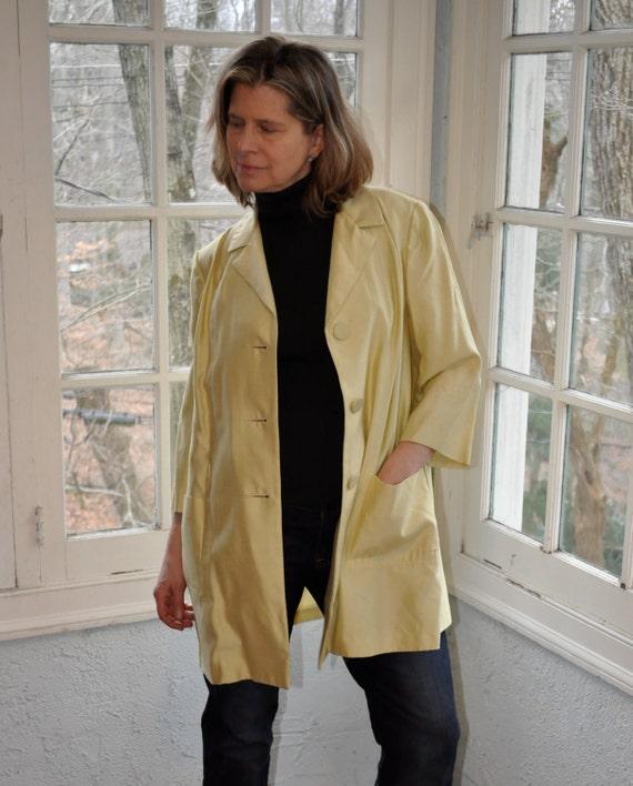 1960 Pale Gold Vintage Dupioni Silk Jacket