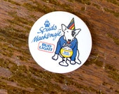 Spuds MacKenzie Bud Light Beer Vintage Button - 1987 Retro Pin - Downstate
