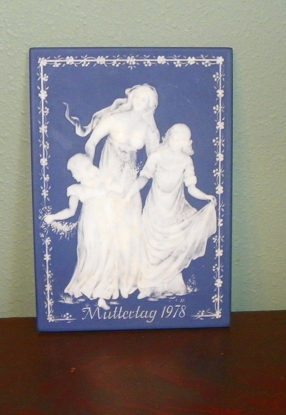 "METTLACH - Villeroy & Boch PLAQUE, German, ""Muttertag 1978"" Mother's Day Limited Edition germany"