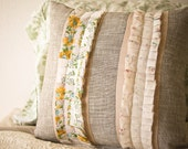 18x18 inch vintage inspired pleated from pillow