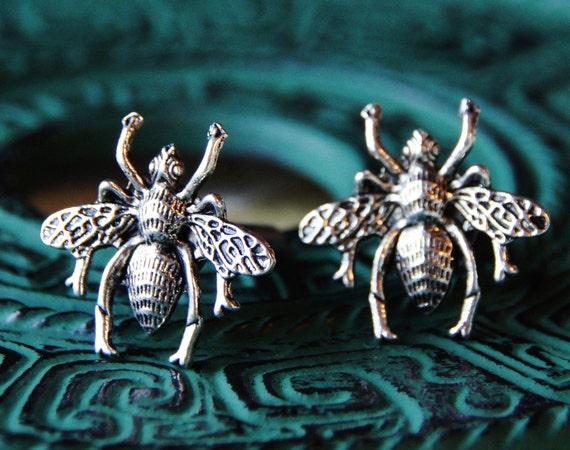 Honey Bee Cuff Links - Bug Insect Cufflinks - Flower Pollen - Fly Flies - Man Gift - Men's Present - Wedding Anniversary - Veterinarian