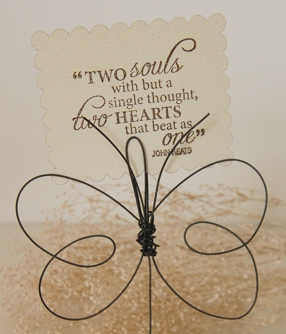 Butterfly Photo Holders - Mother's Day - Wire Butterflies - Hostess Gifts - Baby Shower - Shabby Chic Girl's Room