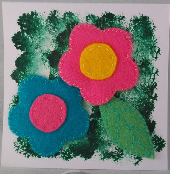 Felt Flowers Card
