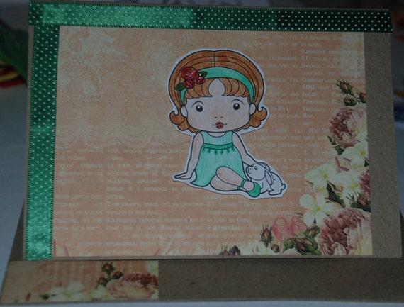 Marci with Bunny Card