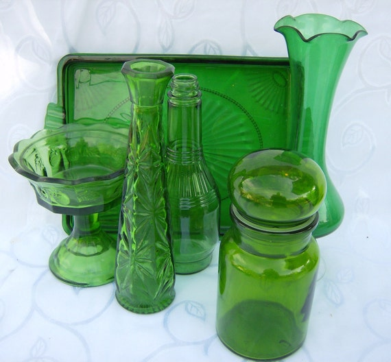 Green Glass Collection Wedding Party Holiday