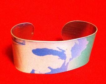Michigan License plate Cuff Bracelet