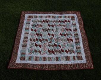 Blush pinwheel lap/baby quilt