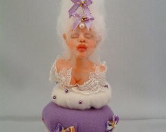 Doll pincushion SUGAR PLUM