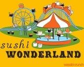 Sushi Wonderland Graphic Tee