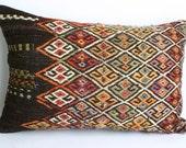 Turks Handmade Kilim Pillow Case -22X14