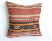 Yuner/BIG SALE Turks Handmade Kilim Pillow Case - 16x16