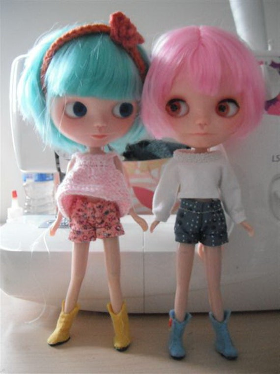 Cute Shorts sewing patterns for Blythe & Barbie dolls