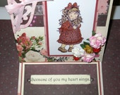 Handmade Stamped Easel Card and Boxelope