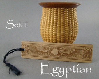 Egyptian Bookmarks of Wood.  Free Shipping.