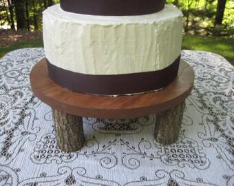 Log Slice Cake Stand, Cake Stand, Tree Cake Stand, Rustic Cake Stand, Rustic Wedding, Wood Cake Stand, Round Cake Stand, Cupcake Stand