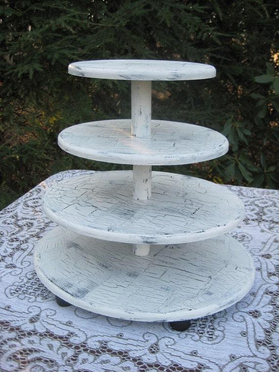 Cupcake Stand, Wood Cupcake Stand, 4 Tier Cupcake Stand, Oval Cupcake Stand, Shabby Chic Cupcake Stand, Wedding Decor, Rustic Cupcake Stand