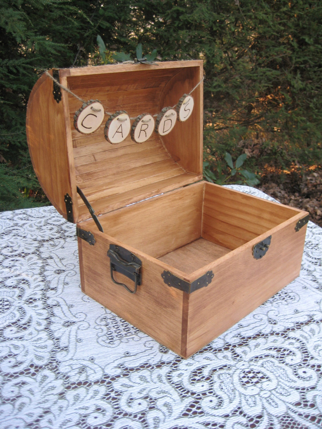 decorative wedding boxes large card box rustic wedding decor trunk chest 3468