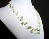 Green Apple Floating Pearl Necklace