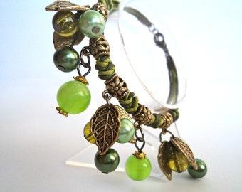 Bohemian Apple Green Bracelet